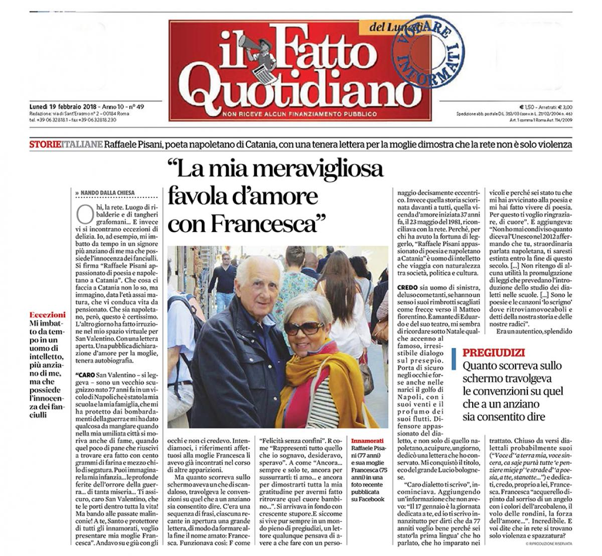 Il Fatto Quotidiano - 19/02/2018